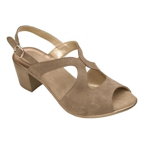 Scholl JOCELYN šedé semišové sandále + doprava zdarma