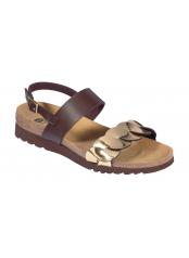 Scholl JADA SANDAL - hnědé zdravotní sandály