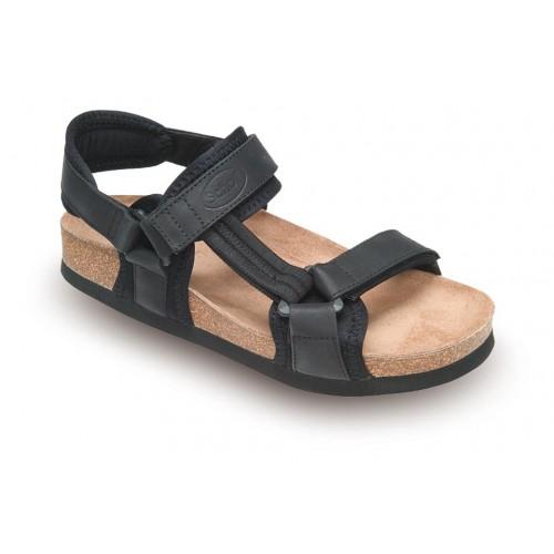 Scholl NEW TRACK černé zdravotní sandály