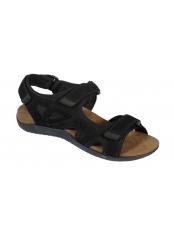 Scholl SPINNER černé zdravotní sandály