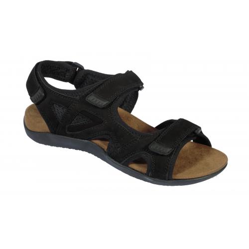 a6a810ee6c3ca Scholl SPINNER černé zdravotní sandály EU 42