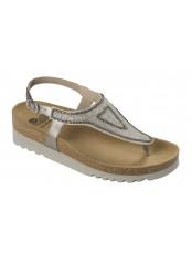 AIDA bílé/platinové zdravotní sandále