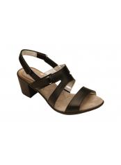 CLOTIS černé zdravotní sandály