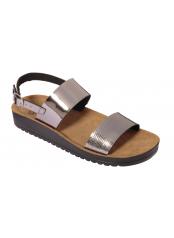 Scholl CYNTHIA SANDAL cínová šeď zdravotní sandály