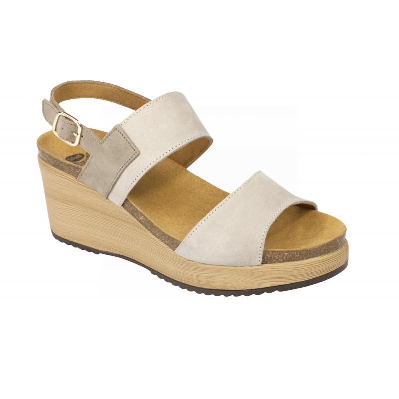 d8ea444a82 Scholl ELARA světle šedé zdravotní sandály