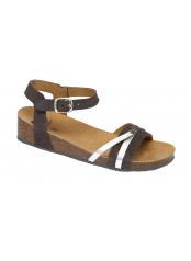 Scholl KELLY tmavě šedé zdravotní sandály