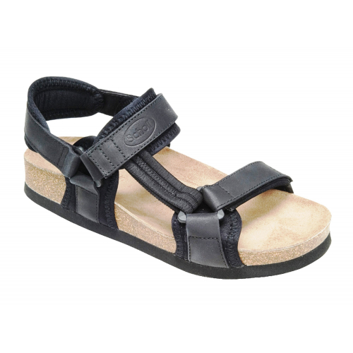 Scholl NEW TRACK černé zdravotní sandály EU 40