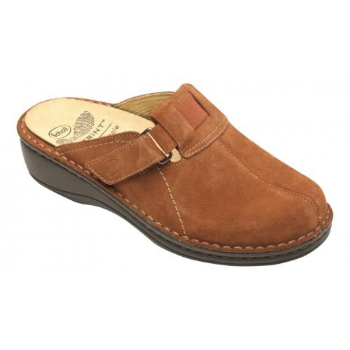 Scholl DORNY hnědá domácí obuv