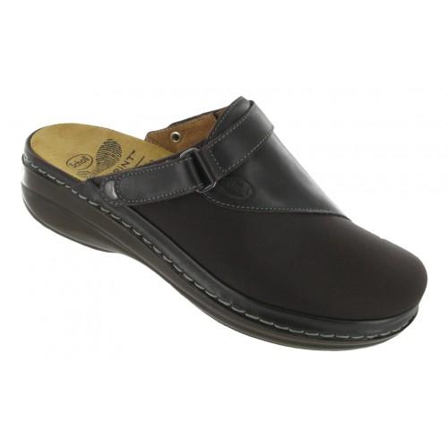 Scholl MAULA tmavě hnědá domácí obuv VÝPRODEJ