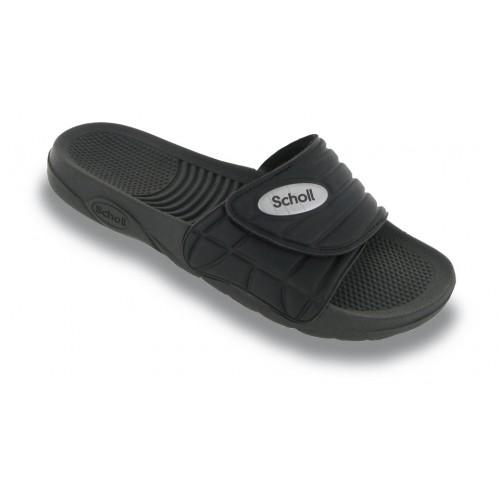 Scholl NAUTILUS - černé zdravotní pantofle