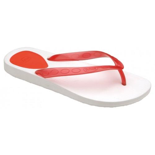 Scholl GELLY bílé (červené) zdravotní plážové žabky
