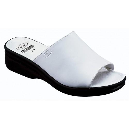 Scholl CHIC - bílé zdravotní pantofle