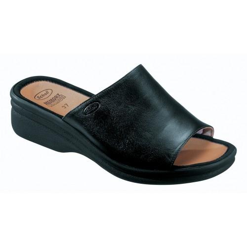 Scholl CHIC - černé zdravotní pantofle
