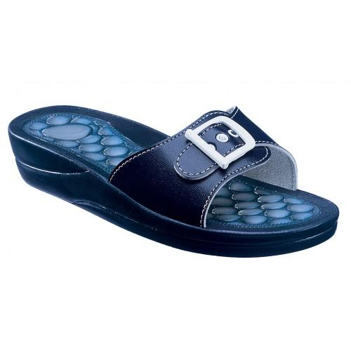 Scholl FITNESS PEBBLE modré zdravotní pantofle